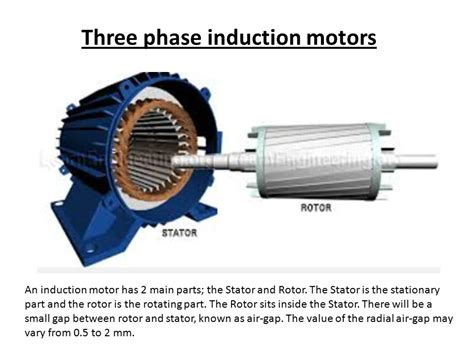 induction motor generator 3 phase three phase induction motors ppt