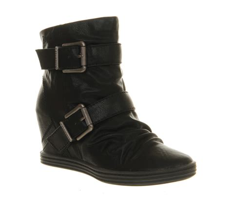Sporty Wedges Wedges 7cm blowfish tugo wedge sneaker black saddle ankle boots