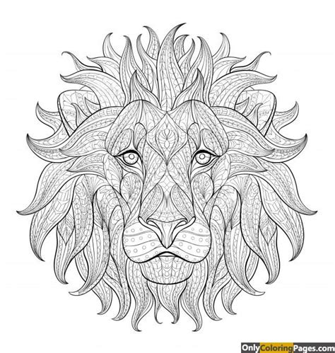 coloring pages of lion faces lion face coloring pages free printable online lion face
