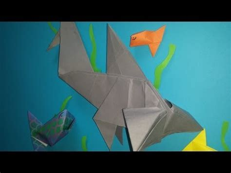 Origami Hammerhead Shark - origami shark travel the world and experience