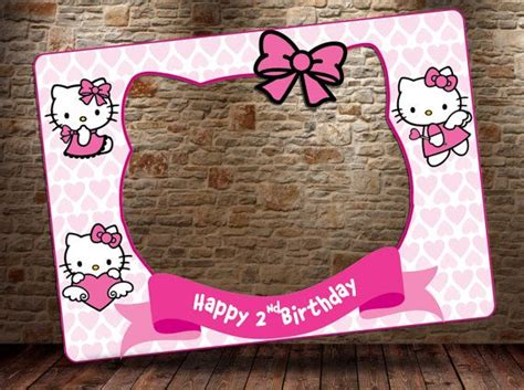 printable hello kitty photo booth props hello kitty photo booth prop digital file hello kitty by