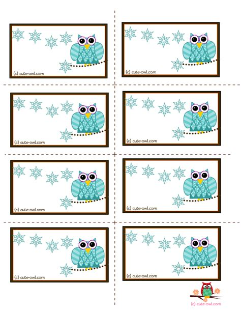 free printable owl name tag template search results