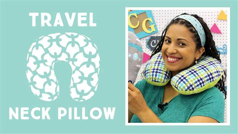 sewing pattern neck pillow travel neck pillow easy sewing tutorial with vanessa of
