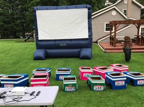 backyard drive in the coolest backyard diy quot drive in quot theater for kids