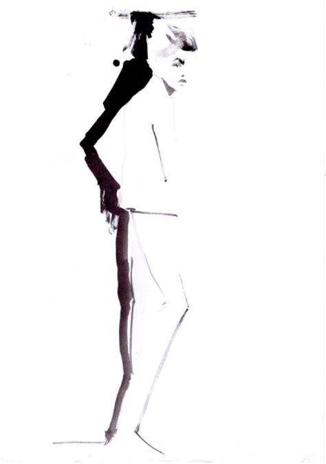 fashion illustration using ink black ink fashion illustrations baiba ladiga illustration