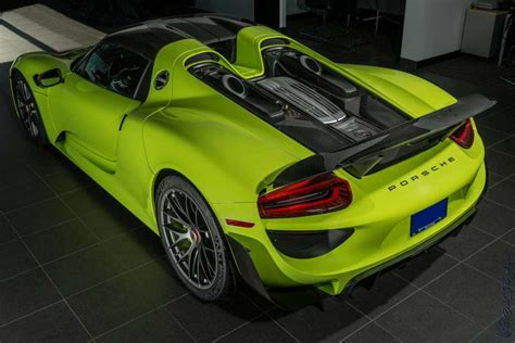 porsche 918 acid green quot acid green quot porsche 918 spyder looking for new owner