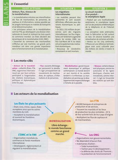 Resume Mondialisation by Pbacpro G1 R 233 Sum 233 De Cours Pour Le Sujet D 233 Tude De