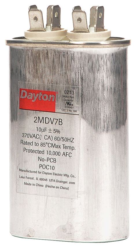 how to read capacitor ratings dayton oval motor run capacitor 10 microfarad rating 370vac voltage 2mdv7