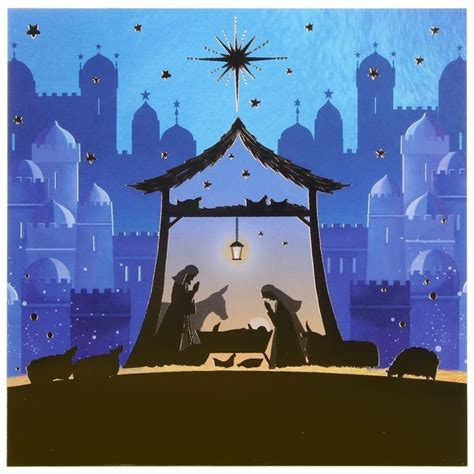 nativity card templates paperlink nativity pack of 6 cards charity pack