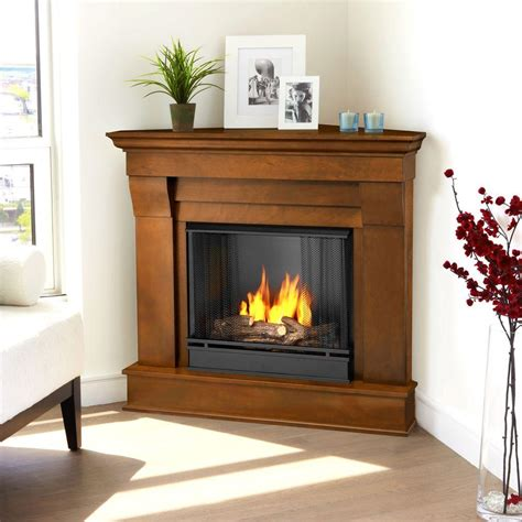 gel fuel corner fireplace real chateau 41 in corner ventless gel fuel fireplace in espresso 5950 e the home depot