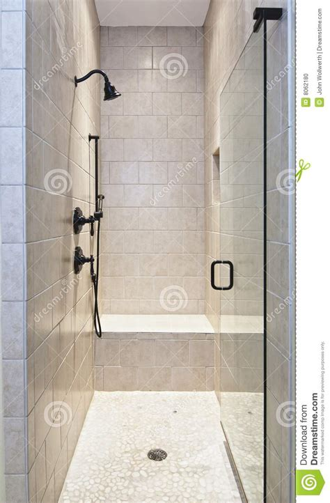 Rubber Bench Large Tile Luxury Shower Stock Photo Image 8062180
