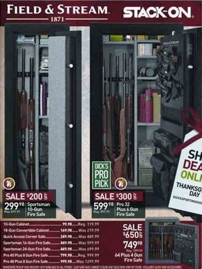 Gun Cabinet Black Friday by Field And Stack On Gun Safes S Sporting