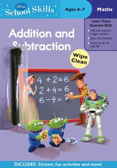 Disney Learning Story Addition Substraction disney school skills story addition and subtraction scholastic club