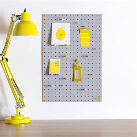 white pegboard with wooden pegs small by block design grey pegboard with wooden pegs medium by block design