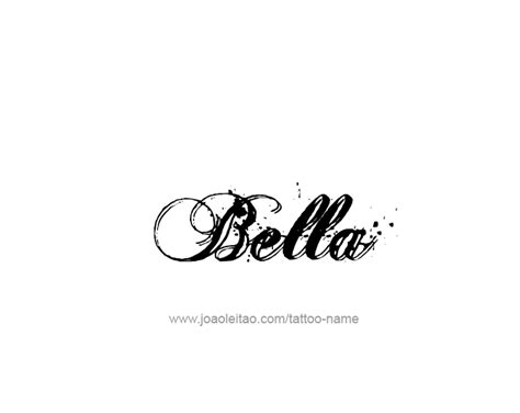 bella name tattoo designs