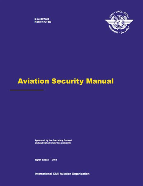 security manual template aviation security manual doc 8973 restricted
