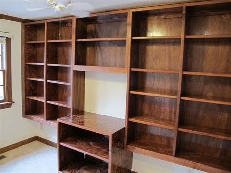 Handmade Bookcases - handmade built in bookshelves by carolina woodworking