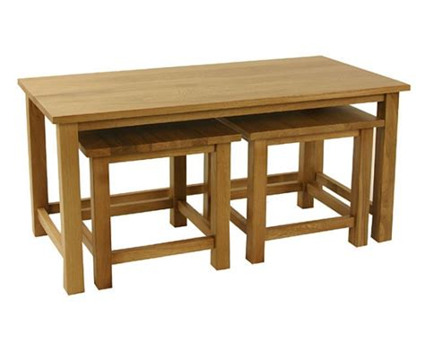 coffee nest tables lincoln oak wine table