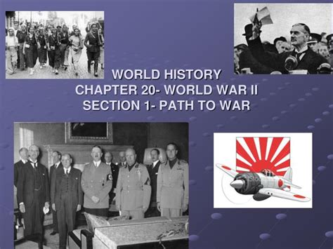 Ppt World History Chapter 20 World War Ii Section 1