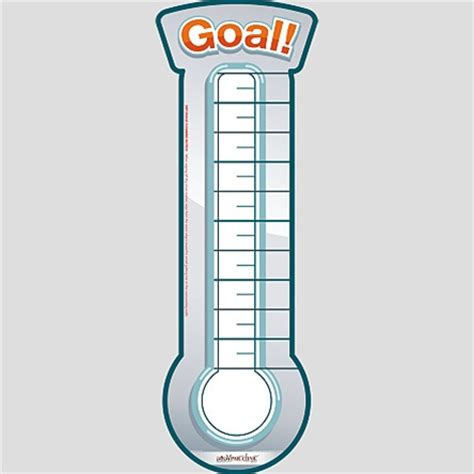 Thermometer Goal Chart Goal Chart Template 8 Free Word Excel Pdf Format Download Ayucar Com Goal Thermometer Template Printable