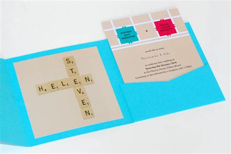 scrabble invitations archie and the rug a homespun wedding the invitations