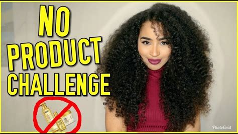 How To Style Hair Without Products by No Product Curly Hair Challenge My Hair Without Any
