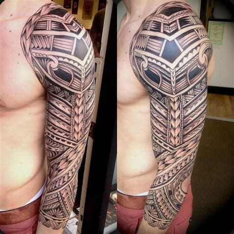 blackwork maori tattoo sleeve best tattoo ideas gallery