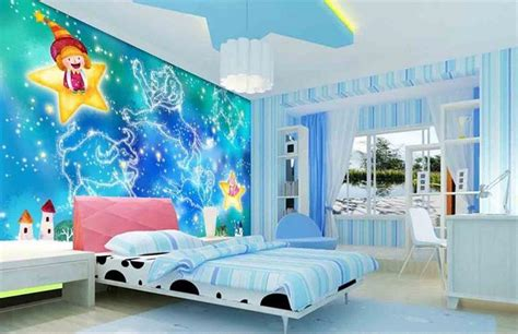 kids room wallpaper custom  woven hd murals blue