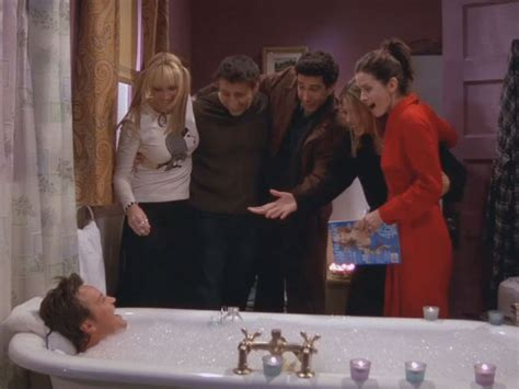 my friends are in the bathroom the one when chandler takes a bath top ten tv
