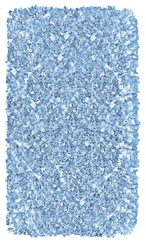 light blue shag rug raganoodle light blue shag area rug modern rugs by ls plus
