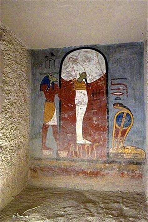 The Osiris Numbers mural painting god osiris god nesert of ramses i