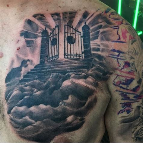 heaven gates tattoos 50 aneglic heaven tattoos ideas and designs 2018
