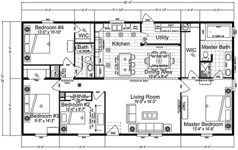 4 bedroom wide floor plans chion wide mobile home floor plans carpet vidalondon