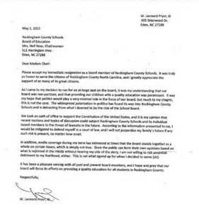 resignation letter sample board member 1 - Board Member Resignation Letter Sample