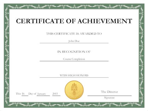 certification of records template certificate tips for creating a certificate
