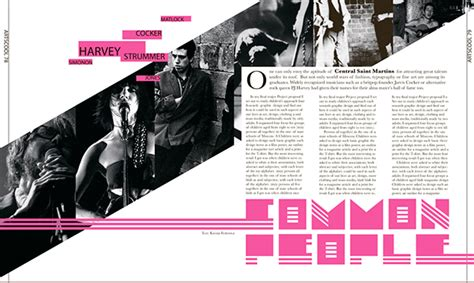 design layout ideas for magazines magazine layouts on behance