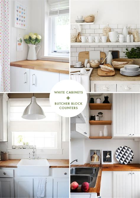 white cabinets with butcher block countertops small bright white kitchen with butcher block counters