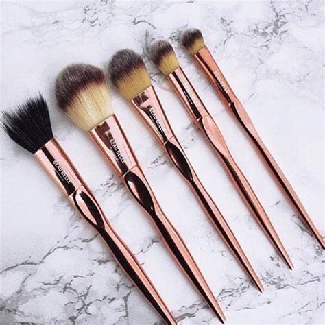 Set Glm Gold One Original five pc gold makeup brush set by beau notonthehighstreet
