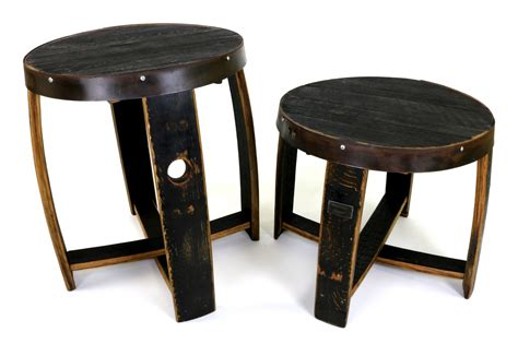 barrel accent table bourbon barrel end table hungarian workshop buy today
