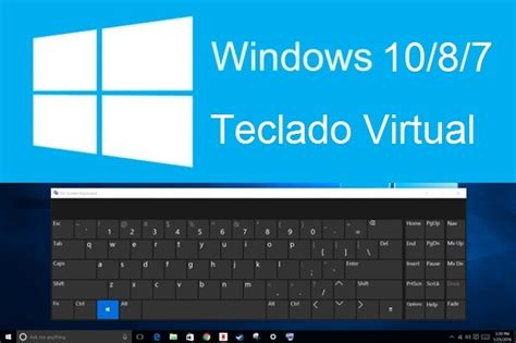 imagenes teclado virtual como activar el teclado virtual en la pantalla de windows