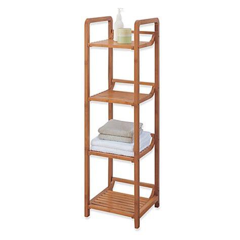 bed bath beyond bamboo bathroom furniture neu home lohas 4 tier bamboo floor tower bed bath beyond