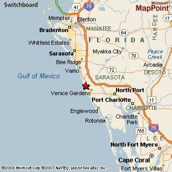 where is venice florida on the map venice florida