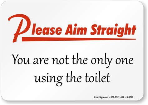 aim using the toilet bathroom