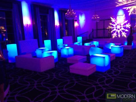 Club Lounge Chairs Design Ideas Illuminated Furniture Rechargeable Led Cube With Color Change Remote