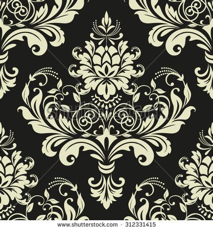 black and white floral pattern name floral pattern wallpaper baroque damask seamless stock