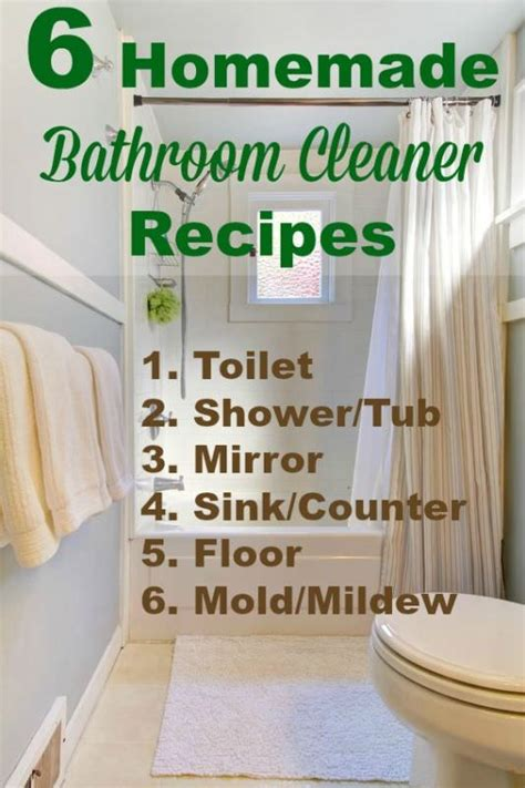 homemade bathroom cleaner recipes 6 homemade bathroom cleaner recipes veryhom