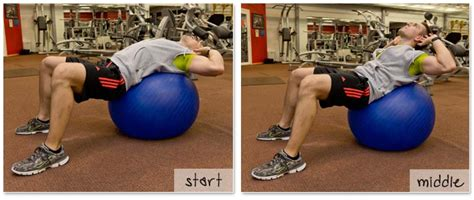 exercise ball crunch abs exercises tummy exercises