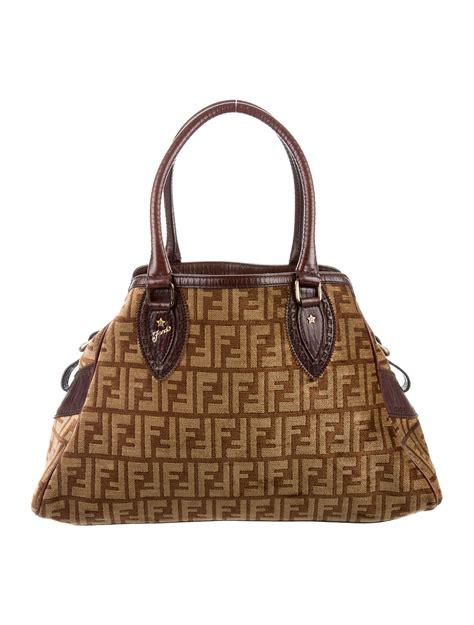 Fendi Bag Du Jour Purse by Fendi Velour Zucca Print Bag Du Jour Handbags Fen53479