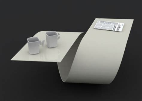 Futuristic Coffee Table Futuristic Coffee Table With Amazing Loop By Baita Design Digsdigs