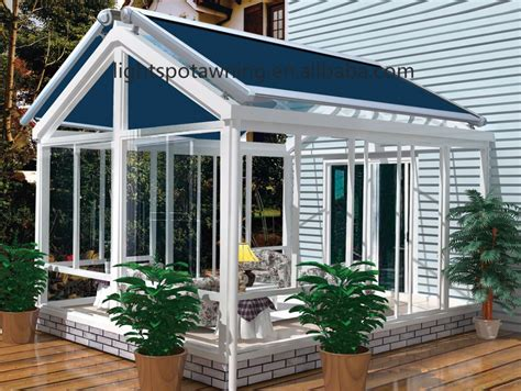 Retractable Roof Awnings by Motorized Retractable Roof Sunshade Outdoor Sliding